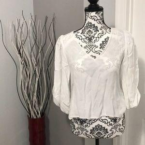 Zara women's white blouse